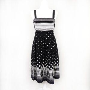 Black and White Polka Dot Sleeveless Dress Size 12